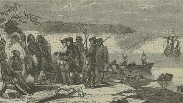 L'explorateur Henry Hudson offre de l'alcool à des Autochtones.