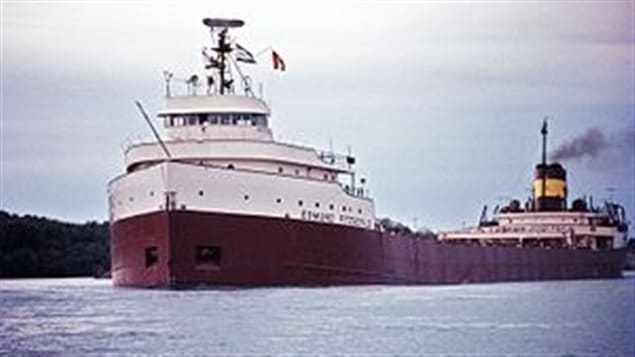 Shown here in 1971, the Edmund Fitzgerald- lost with all 29 crew on Lake Superior in a white hurricane of November 10, 1975