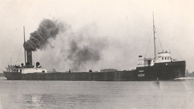 SS Hydrus sunk in the storm with its crew of 24 in Lake Huron. The wreck was located in 2015
