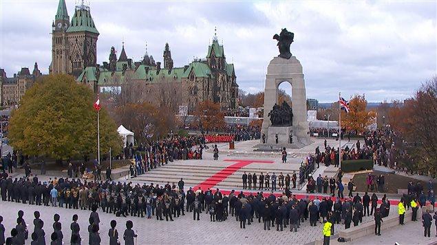 Jour du souvenir à Ottawa, le 11 novembre 2016