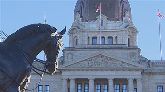 Le palais législatif à Regina