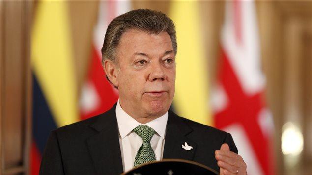 El presidente de Colombia, Juan Manuel Santos, durante su visita oficial a Inglaterra.