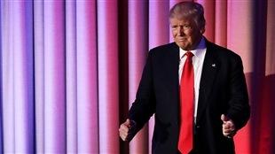 Le président désigné des États-Unis, Donald Trump, le 8 novembre au soir