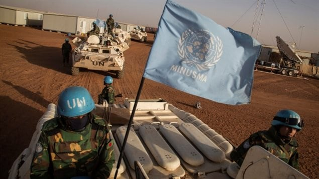 UN peacekeepers arrive at a base in Mali in 2015. Parts of the country have been unstable since falling to Tuareg separatists and then Islamic extremists following a military coup in 2012