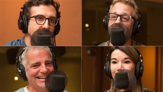 De gauche à droite et de haut en bas : Luis Clavis, Martin Perizzolo, Mike Gauthier et Marie-Ève Tremblay