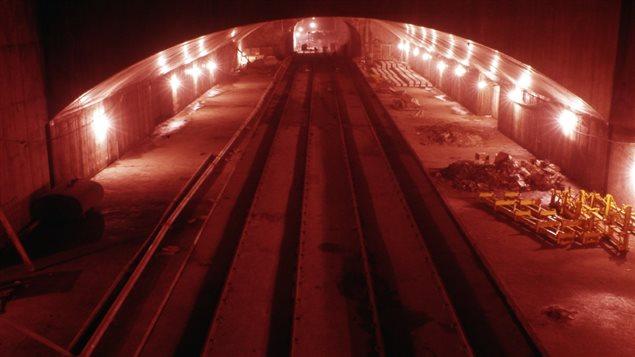 La station de métro Crémazie en construction, vers 1965