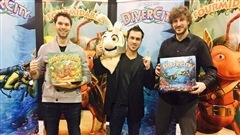 Les gars de Sphère games et leurs jeux Fourmidable et DiverCity.