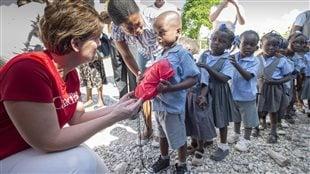 La ministre Marie-Claude-Bibeau en Haïti en novembre dernier.