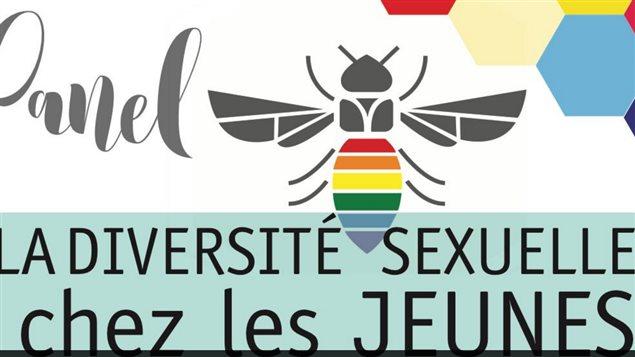 Affiche qui annonce le panel sur la diversité sexuelle chez les jeunes