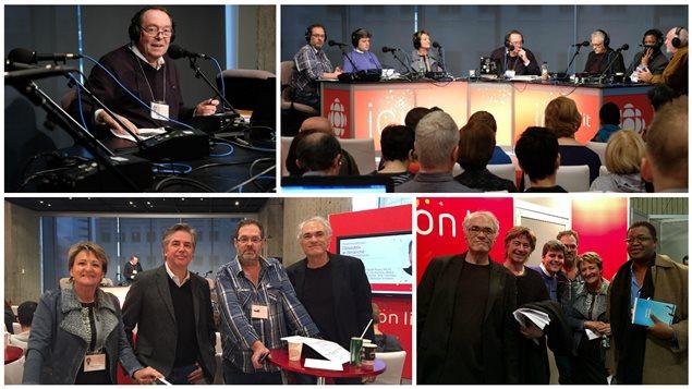 L'équipe de Désautels le dimanche au Salon du livre de Montréal, 2016.