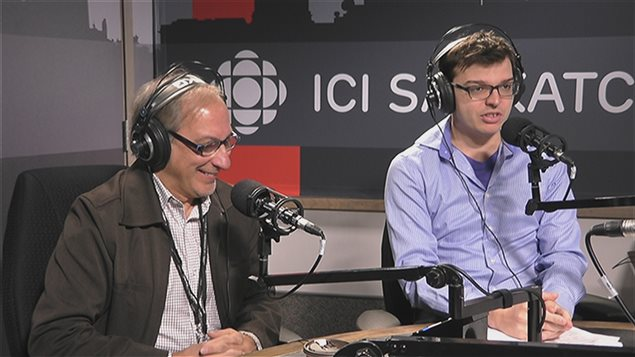 L'amateur de sport Gilles Groleau et le journaliste sportif Simon Roberge