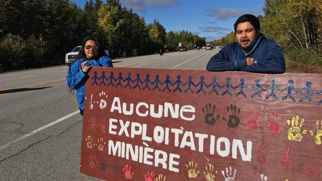 La nation algonquienne qui s'oppose à l'exploration minière sur son territoire