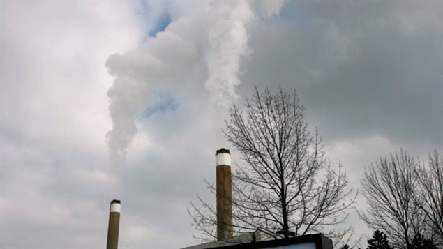 Smoke rises from stacks at Ontario's coal-fired Nanticoke Generating Station in this 2007 file photo. The province phased out coal-fired electricity generation in 2014.