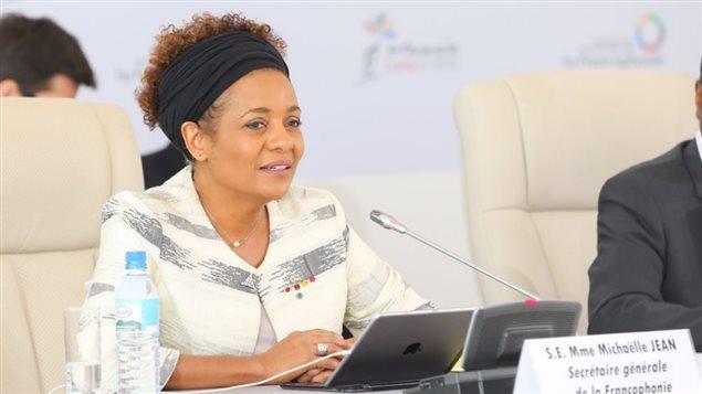 Michaëlle Jean, sécrétaire générale de la Francophonie