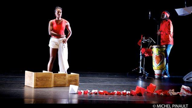 Le spectacle BOW'T (version originale créée à Montréal) de la chorégraphe Rhodnie Désir avec le musicien Ronald Nazaire