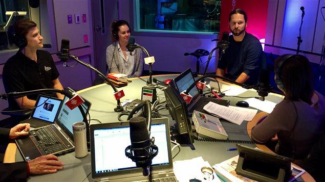 Charles Tétreau, Elizabeth Fugère et Dr Guillaume Langlois à Facteur Matinal (Novembre 2016)