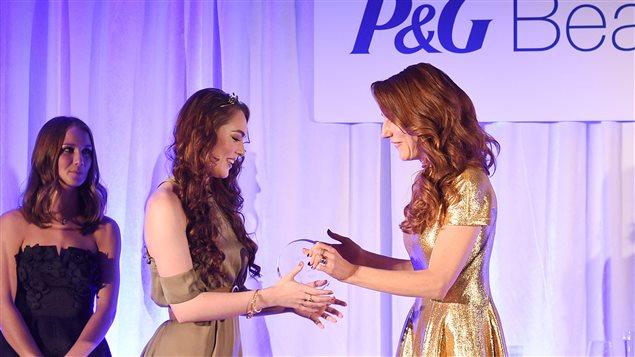 Jackie Wyers reçoit le prix P