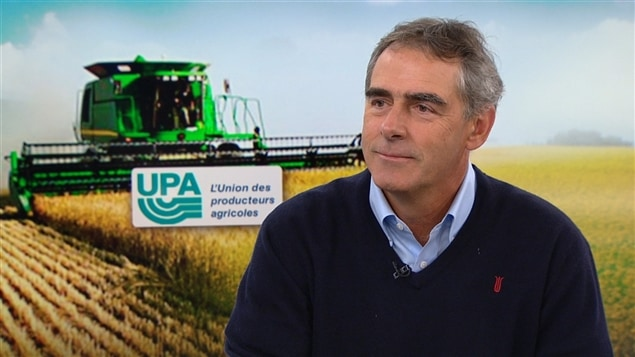 Marcel Groleau, président de l'Union des producteurs agricoles du Québec (UPA)