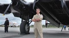 Craig Brookhouse, aircrew for the CWHM *Mynarski* Lancaster.