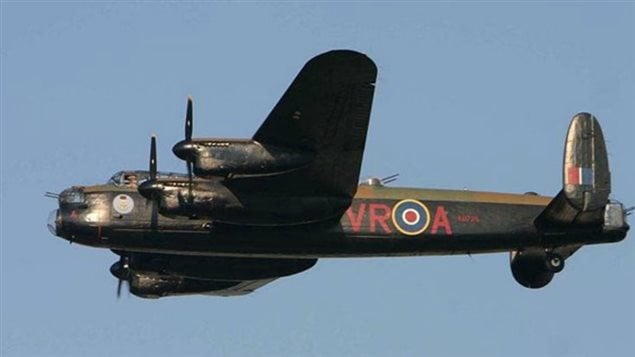 the CWHM *Mynarski* Lancaster clearly showing call sign VR-A (Vera)