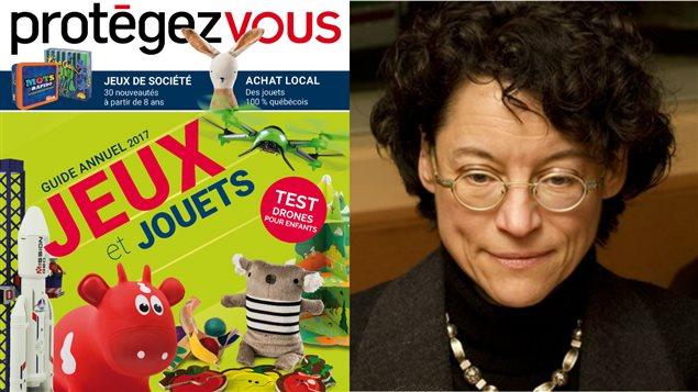 Guide Jeux et jouets 2017 et Danielle Charbonneau, coordonatrice du dossier jouets pour le magazine Protégez-vous