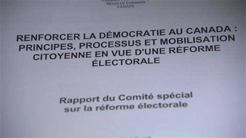 Réforme électorale