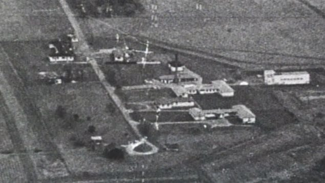 Period photo of the secretive Camp X which trained Allied spies from Canada, Britain and the US who were later sent on extremely dangerous missions in theatres around the world.