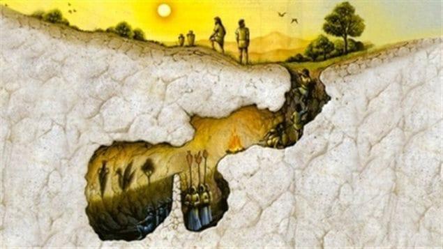 LA ZAD EN L'ÉTROIT TERRITOIRE - L'OUTRE-RÉEL IV.2 161209_4r4ra_dessine_caverne_sn635