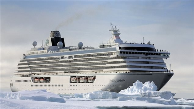 Cyrstal Serenity recently made a voyage through the Northwest Passage across the Arctic.