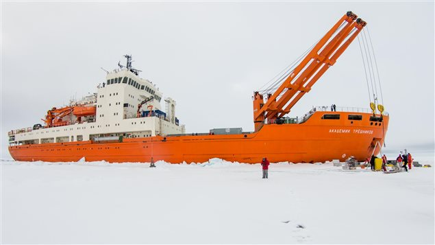 Le brise-glace et navire scientifique Akademik Trechnikov