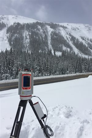 Researchers use this laser-scanning (lidar) instrument to map snow depth at very high resolution.