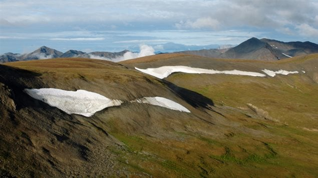 NWT ice patch landscape, elevation approximately 1750 metres.