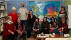 Murale inter-générationnelle à la bibliothèque d'Albertville
