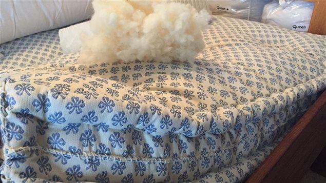 matelas de laine fait à la main