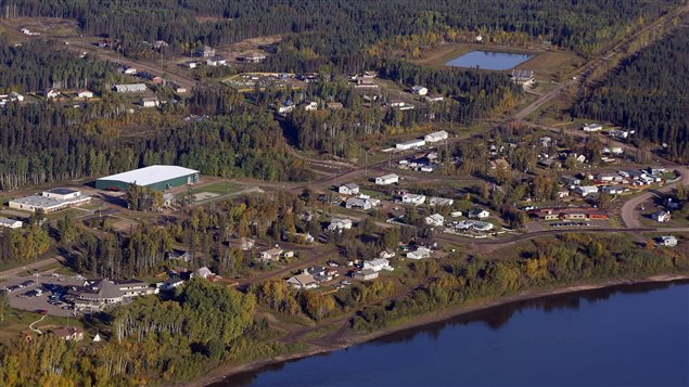 An aerial view of Fort McKay, Alta., Monday, Sept. 19, 2011. The community of Fort McKay is situated in the Regional Municipality of Wood Buffalo, approximately 65 kilometers north of Fort McMurray. The Fort McKay First Nation is a signatory to Treaty 8 and belongs to the Athabasca Tribal Council.