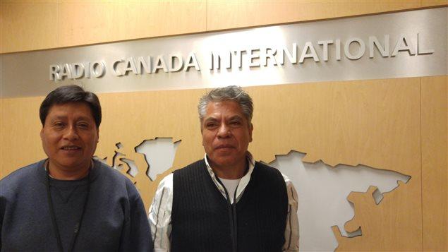 Osvaldo Galicia y José Ortiz en Radio Canadá Internacional.