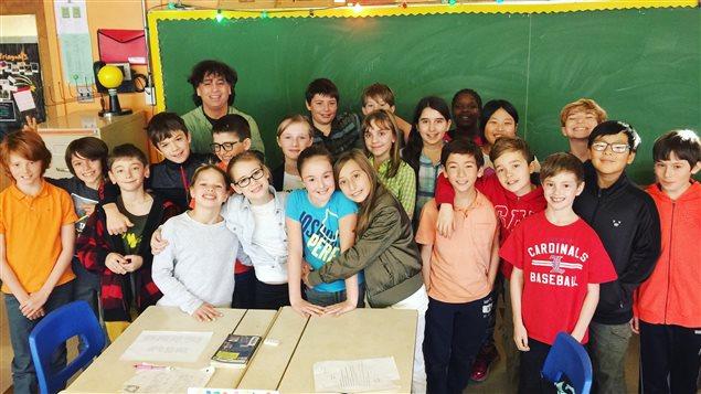 Une classe de 5e année à l'école Sainte-Geneviève Sud à LaSalle