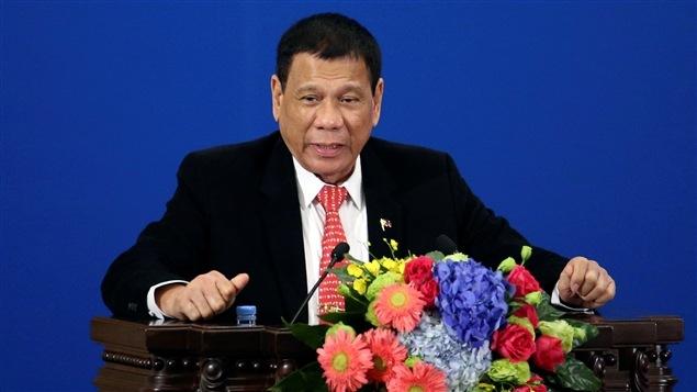 Rodrigo Duterte, président des Philippines