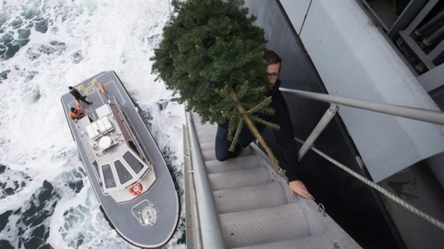 Stranded ship crew gets Christmas gifts
