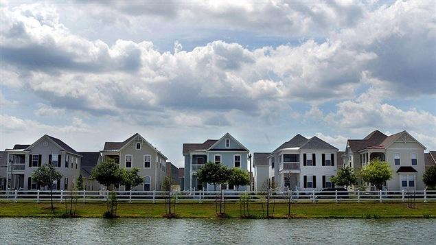 Rangée de maisons en Floride