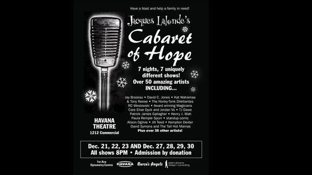 Le comédien et dramaturge Jacques Lalonde présente le Cabaret of Hope