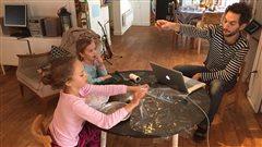 Philippe Patenaude et ses deux filles