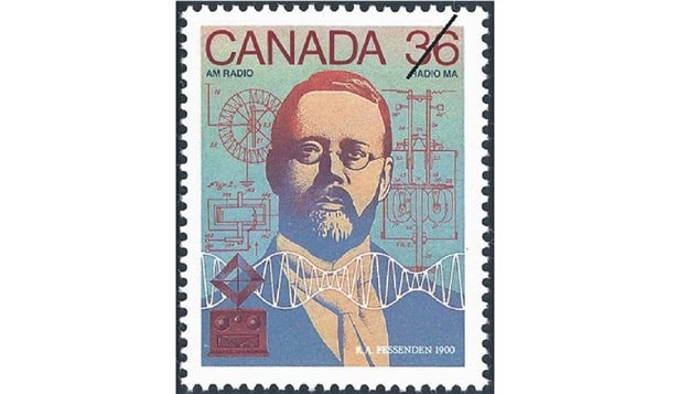 In 1987 Canada Post created this postage stamp to commemorate Reginald Fessenden, inventor of radio and hundreds of other inventions.