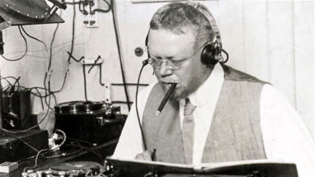The true inventor of radio, Canadian Reginald Aubrey Fessenden in his lab believed circa 1906