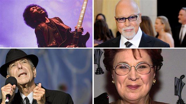 Prince, René Angélil, Leonard Cohen et Rita Lafontaine
