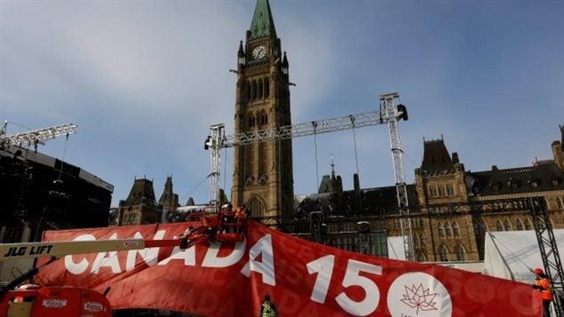 加拿大议会大楼在加紧维修迎接150周年大庆