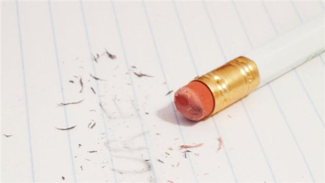 Crayon et efface