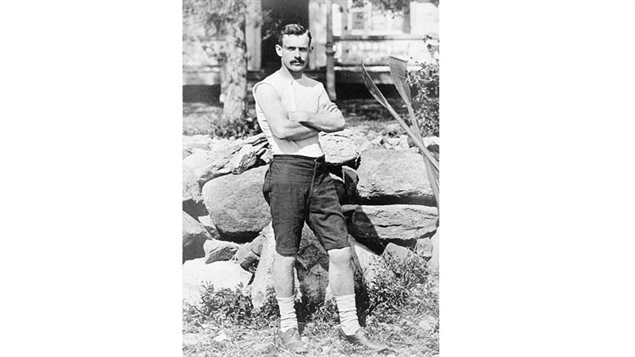 Ned Hanlan in 1878, soon to be World Champion. Handsome, flamboyant, he was a huge crowd pleaser and became Canada's first truly recognized international sports star.