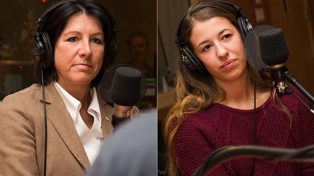 Danièle Sauvageau et Logane Rhéaume