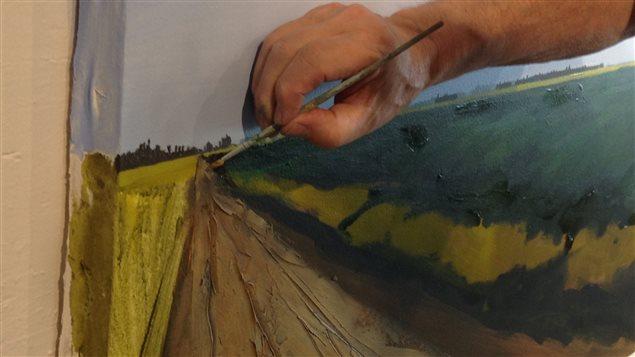 Peinture route R. Lafrenière